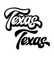 calligraphic inscription american state texas vector image