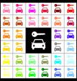 car key simplistic sign felt-pen 33 vector image vector image
