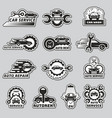 car service logo silhouettes automobiles