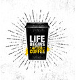 coffee and friends make the perfect blend vector image vector image