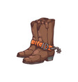 cowboy boots or western footwear cowpuncher vector image vector image