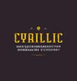 cyrillic narrow serif font in urban style vector image vector image