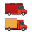 delivery cargo car set on white background vector image vector image