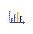 diagram graph line icon column chart sign vector image vector image