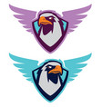 eagle sport logotype for college team vector image vector image