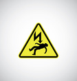 electrocution risk sign vector image