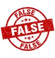 False round red grunge stamp