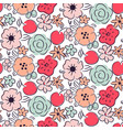 flower and cherry seamless pattern vector image
