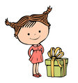 girl present vector image vector image