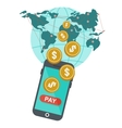 global mobile payment vector image vector image