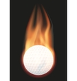 Golf ball with flame vector image