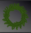 green christmas wreath isolated on checkere vector image vector image