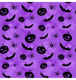 Halloween seamless background lilac big vector image vector image