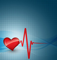 heart beat vector image