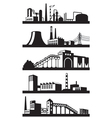 Industrial plants in perspective vector image vector image