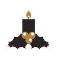 Kawaii candle christmas flower decoration festive