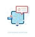 Local city map mobile navigation flat icon vector image vector image