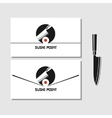 logo design element Sushi roll japan vector image vector image