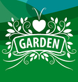 logo from plants ornament with heart vector image vector image