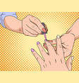 manicure is a cosmetic beauty treatment for the vector image vector image