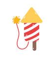 merry christmas fireworks celebration decoration vector image