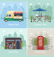 modern city places and spots vector image