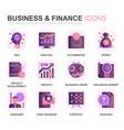 modern set finance gradient flat icons vector image