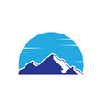 mountain snow landscape logo image vector image vector image