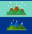 nature landscape with mountains in flat style vector image