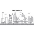 new york new york city architecture line skyline vector image vector image