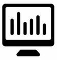 online data analytics vector image vector image