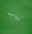 Paper Plane computer symbol vector image vector image