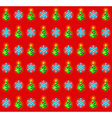 Pattern with glowing christmas trees and vector image vector image