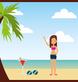 person on vacations holidays vector image vector image