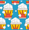 popcorn seamless pattern food background feed vector image vector image