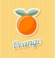 retro orange vector image vector image