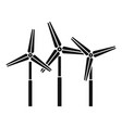 road wind power plant icon simple style vector image