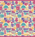 seamless pattern kitchen background vector image vector image