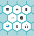 set of laptop icons flat style symbols with vector image vector image