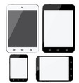 set of modern digital devices smartphones tablets vector image