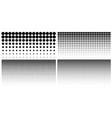 set of vertical gradient halftone dots backgrounds vector image vector image