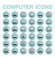 set of web icons computer technology electronics vector image