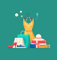 shopping concept sales vector image vector image