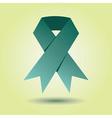 Single emerald green awareness ribbon icon vector image vector image
