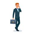 smart graceful man cartoon character vector image vector image