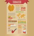 Smoking Tobacco Infographics vector image