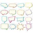speech bubble templates on white background vector image vector image