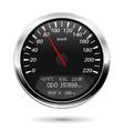 speedometer kilometers per hour vector image vector image
