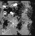 spiders and spider web silhouette spooky nature vector image vector image