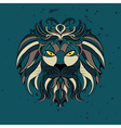 Stylized Lion Head2 vector image vector image